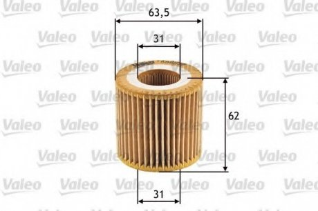 586536 Valeo Фильтр масляный (вставка)