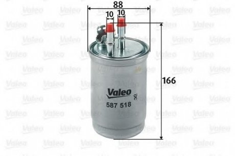 587518 Valeo Фильтр топливный