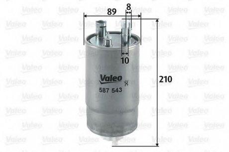 587543 Valeo Фильтр топливный