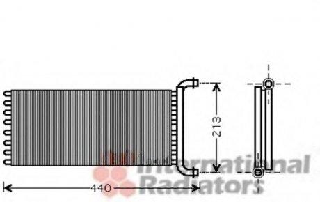30006399 Van Wezel Радиатор отопителя MERCEDES SPRINTER W 906 (06-) (пр-во )