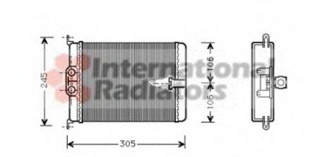 30006187 Van Wezel Радиатор отопителя MERCEDES S-CLASS W 140 (91-) (пр-во )