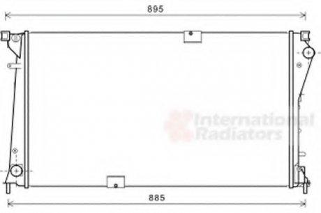 43002490 Van Wezel Радиатор охлаждения Trafic VI 2.5 DCi 08, 06-(пр-во )