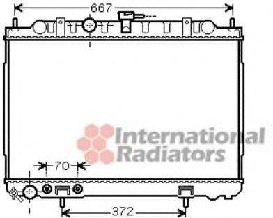 13002239 Van Wezel Радиатор охлаждения NISSAN X-Trail (T30) (пр-во )