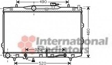 83002075 Van Wezel Радиатор охлаждения CERATO 16i, 20i AT 04- ()
