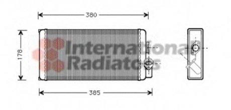 30006188 Van Wezel Радиатор отопителя MB 507D-814D 86- (пр-во )