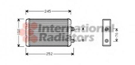 17006220 Van Wezel Радиатор отопителя FIAT; LANCIA (пр-во )