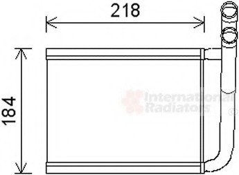 83006166 Van Wezel Радиатор печки KIA RIO ALL 05- (пр-во )