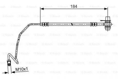 1987481534 Bosch Шланг тормозной
