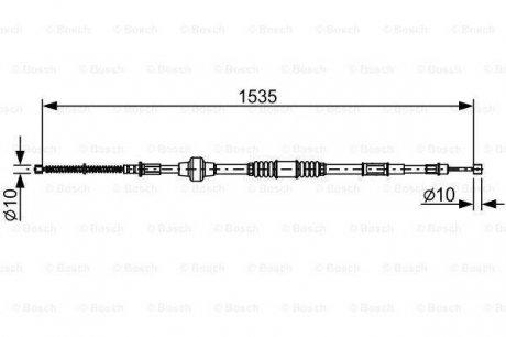 1987482533 Bosch Трос тормозной