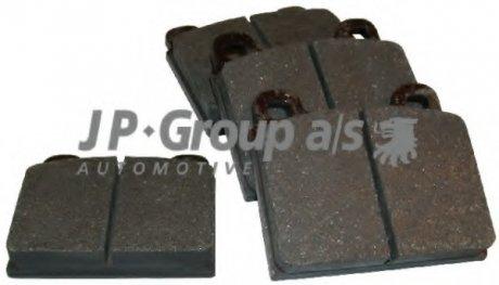 8163601010 JP GROUP Комплект тормозных колодок, дисковый тормоз
