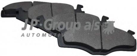 1163600610 JP GROUP Комплект тормозных колодок, дисковый тормоз
